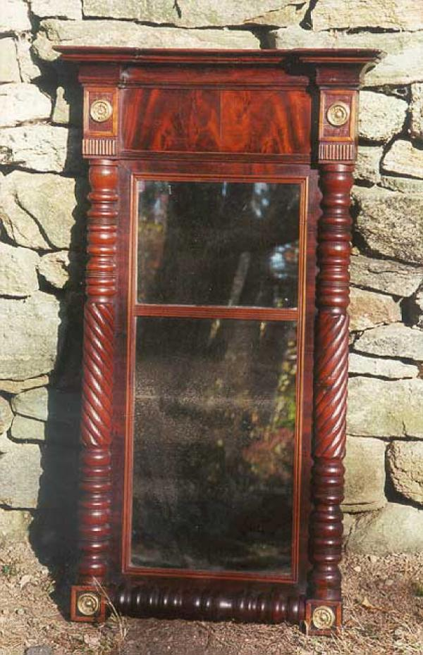 Antique American period Federal Wall mirror