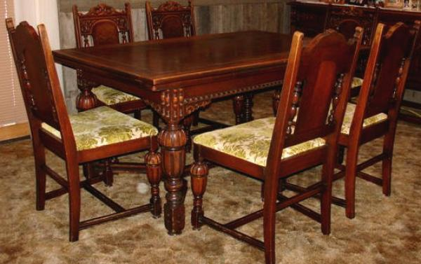 Price my item value of antique dining room set with sideboard for Antique dining room sets