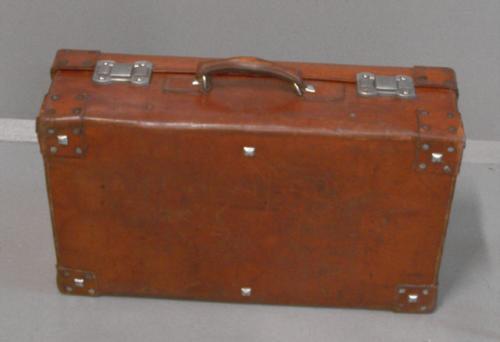 Vintage leather valise - Valise carton vintage ...