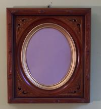 American Victorian black walnut picture frame c1871