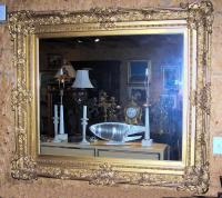 Large French style Gold leaf frame with mirror c1900