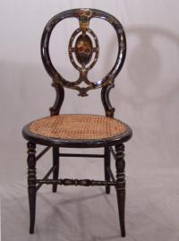 Victorian hand painted parlor chair c1875