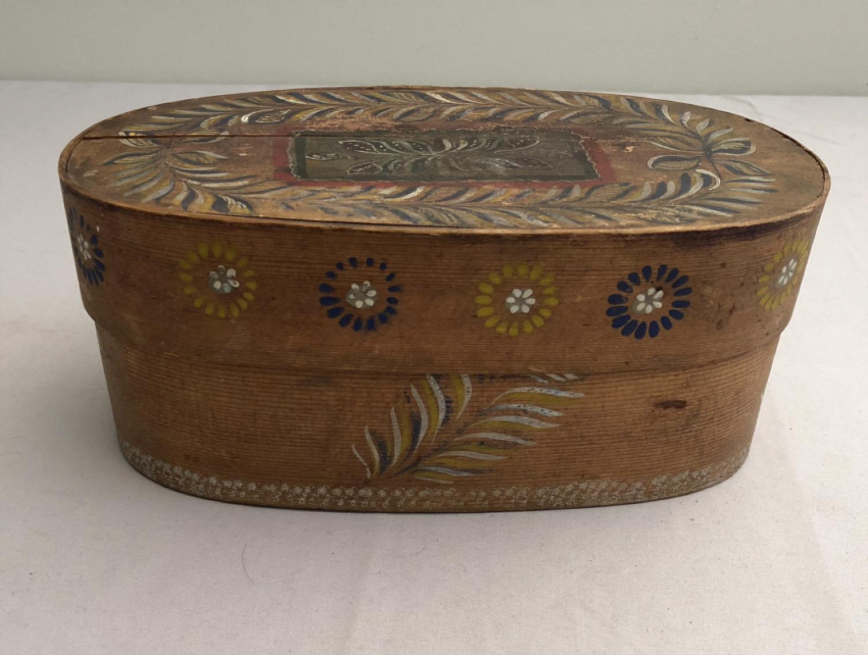 Antique Scandinavian hand painted pantry box