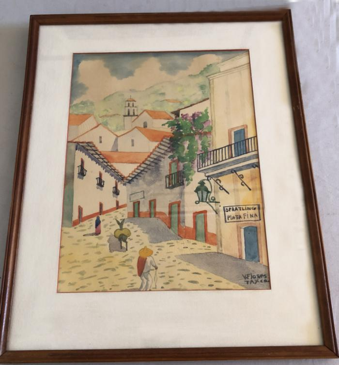 Spratling silver studio folk art painting c1940