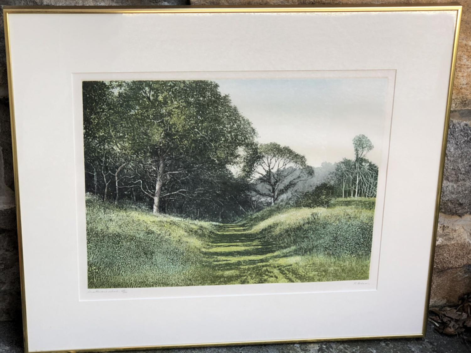 Sullivans woos by P  Bisson lithograph 38 of 350