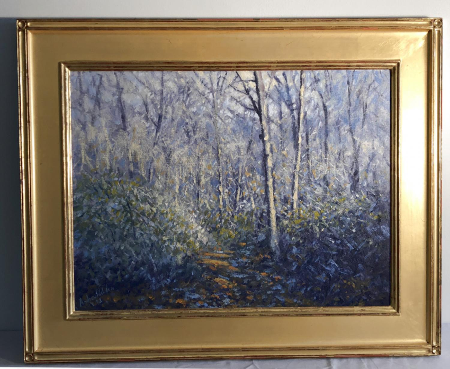 Andrew Walden wooded landscape oil painting