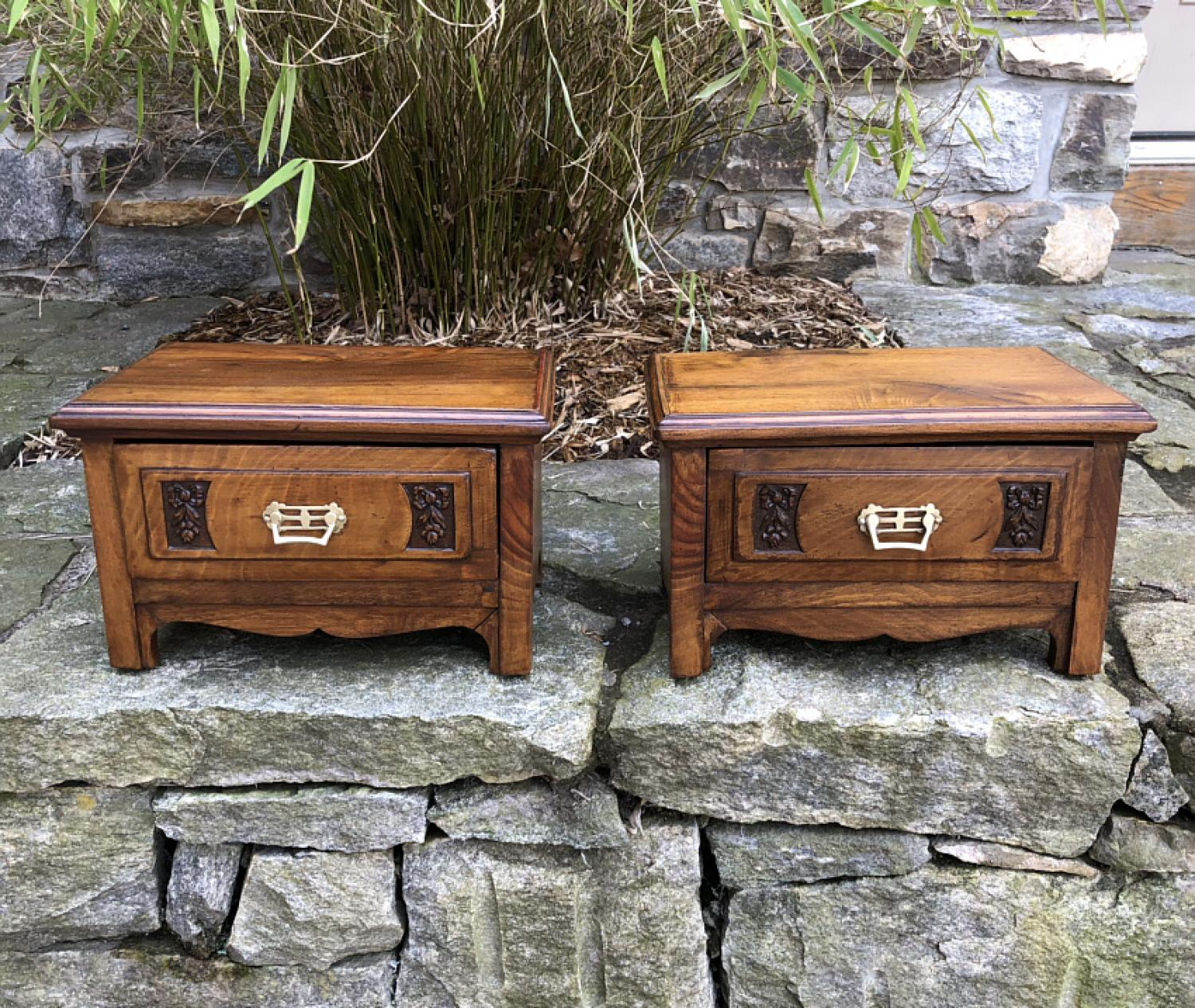 Pair of Art Nouveau jewelry boxes c1890