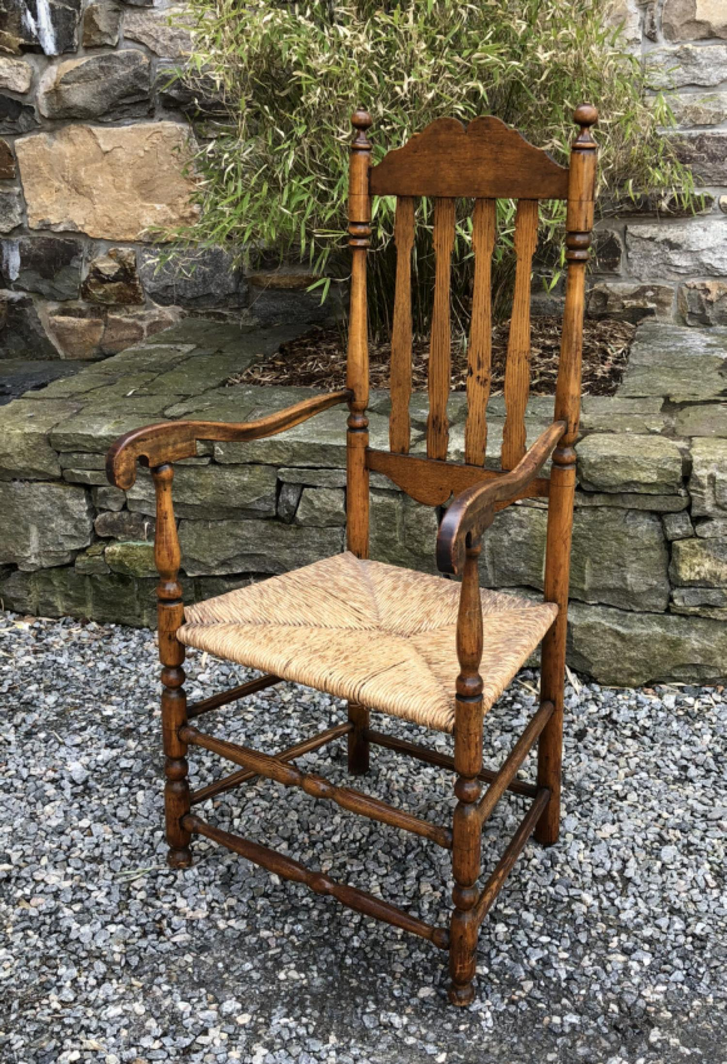 Early American banister back arm chair c1740