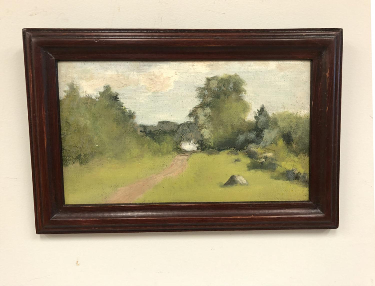 Jennie Burr landscape oil painting  c1900