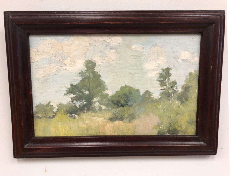 Jennie Burr impressionist landscape oil painting c1900