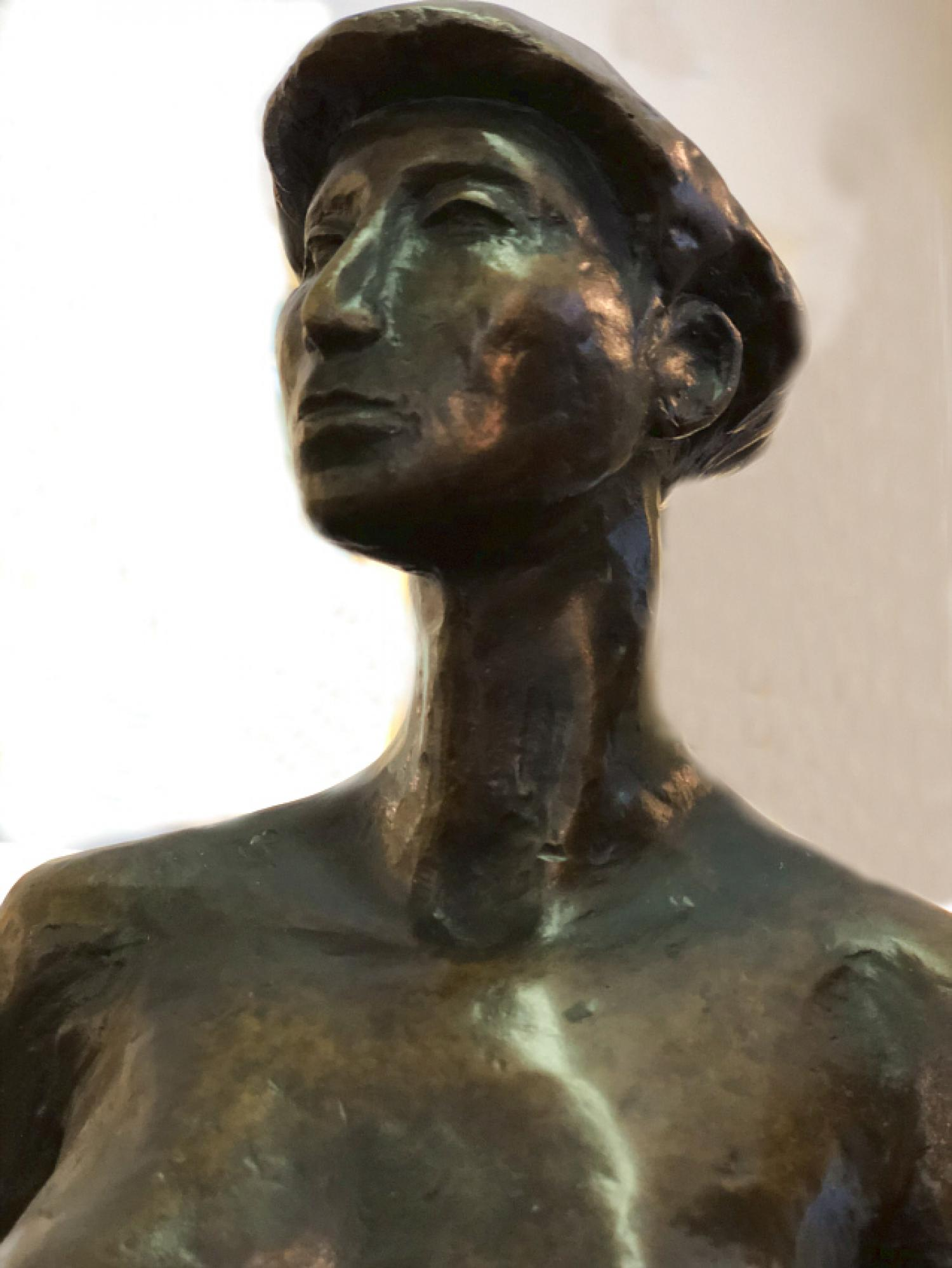Alvis Turner bronze sculpture of a standing woman