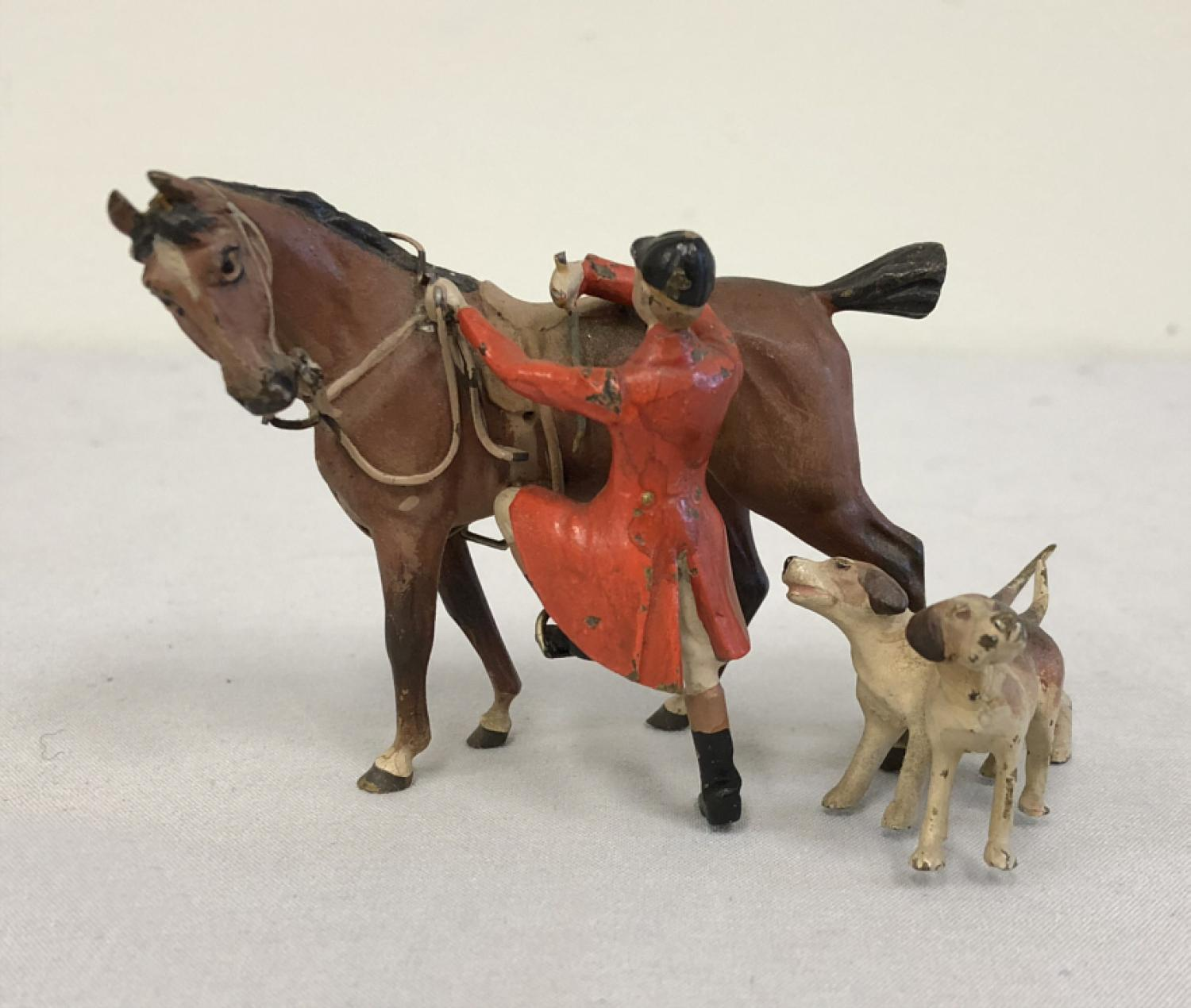 Austrian cold painted bronze fox hunting group