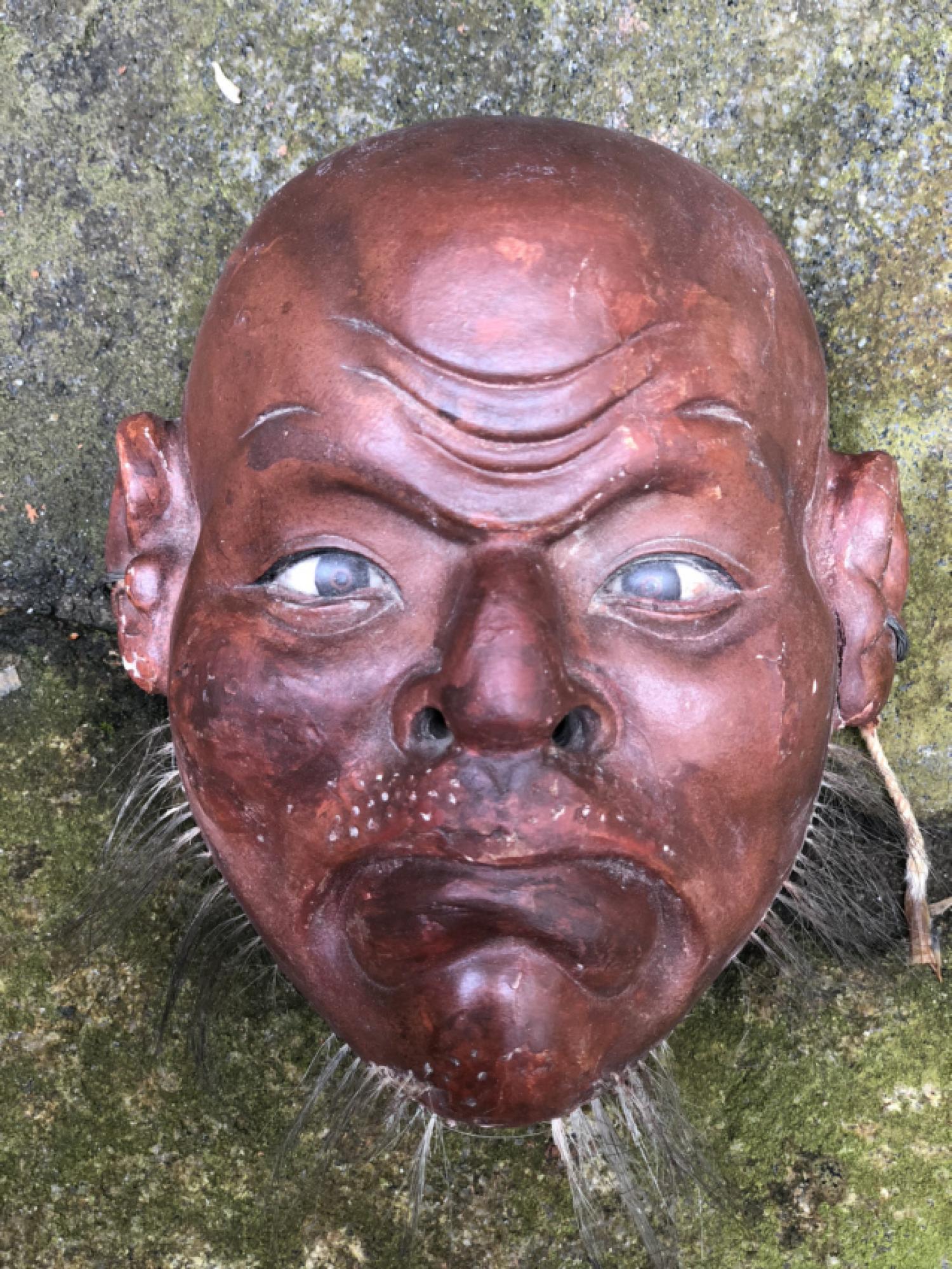 Japanese papier mache Noh mask c1900