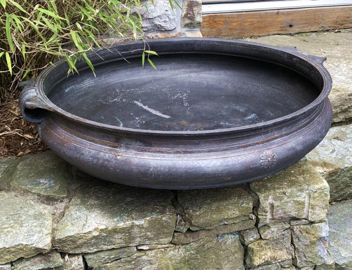 Huge Antique Indian bronze urli  temple bowl c1850