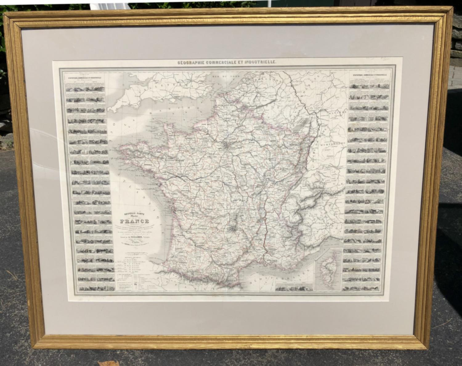1857 map of  France