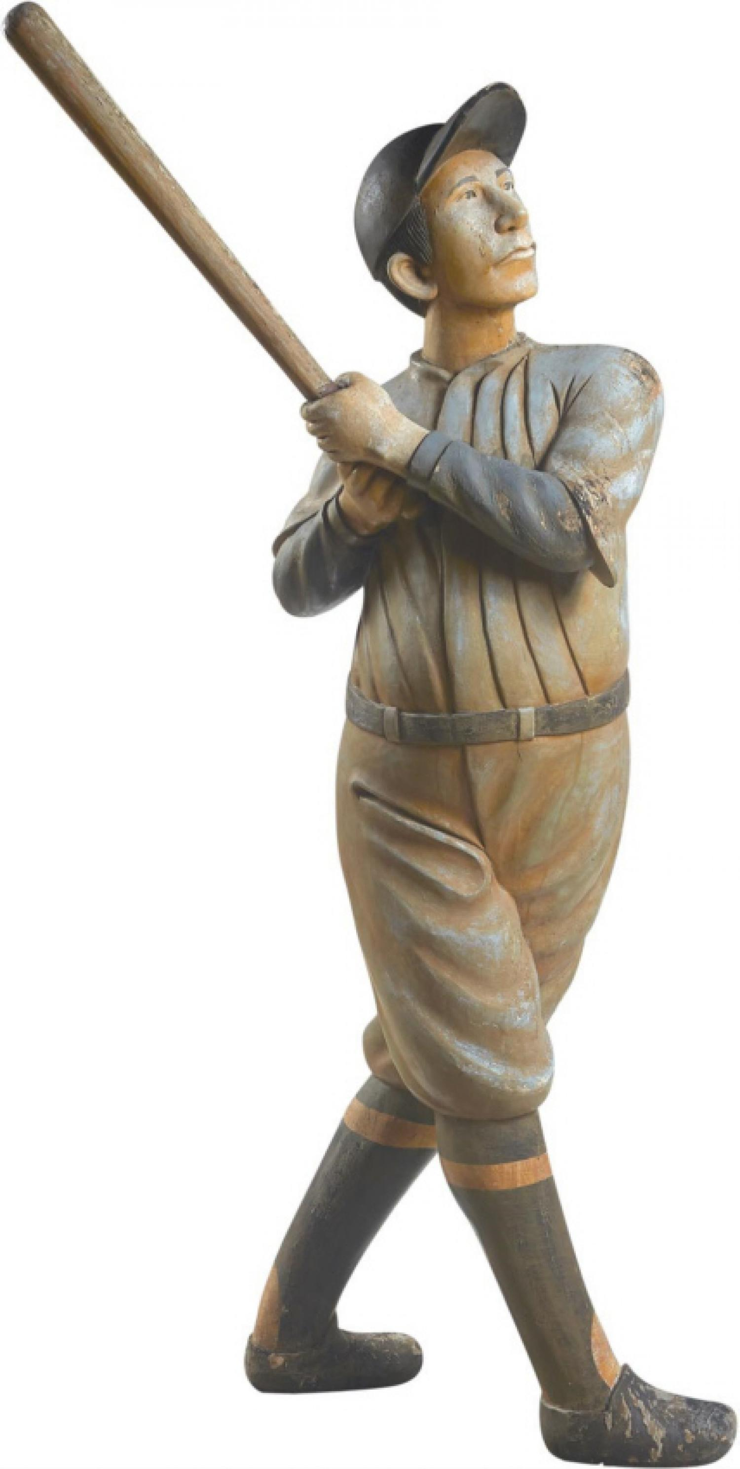 Important 1950s Ted Williams Folk Art Trade Figure Life Size