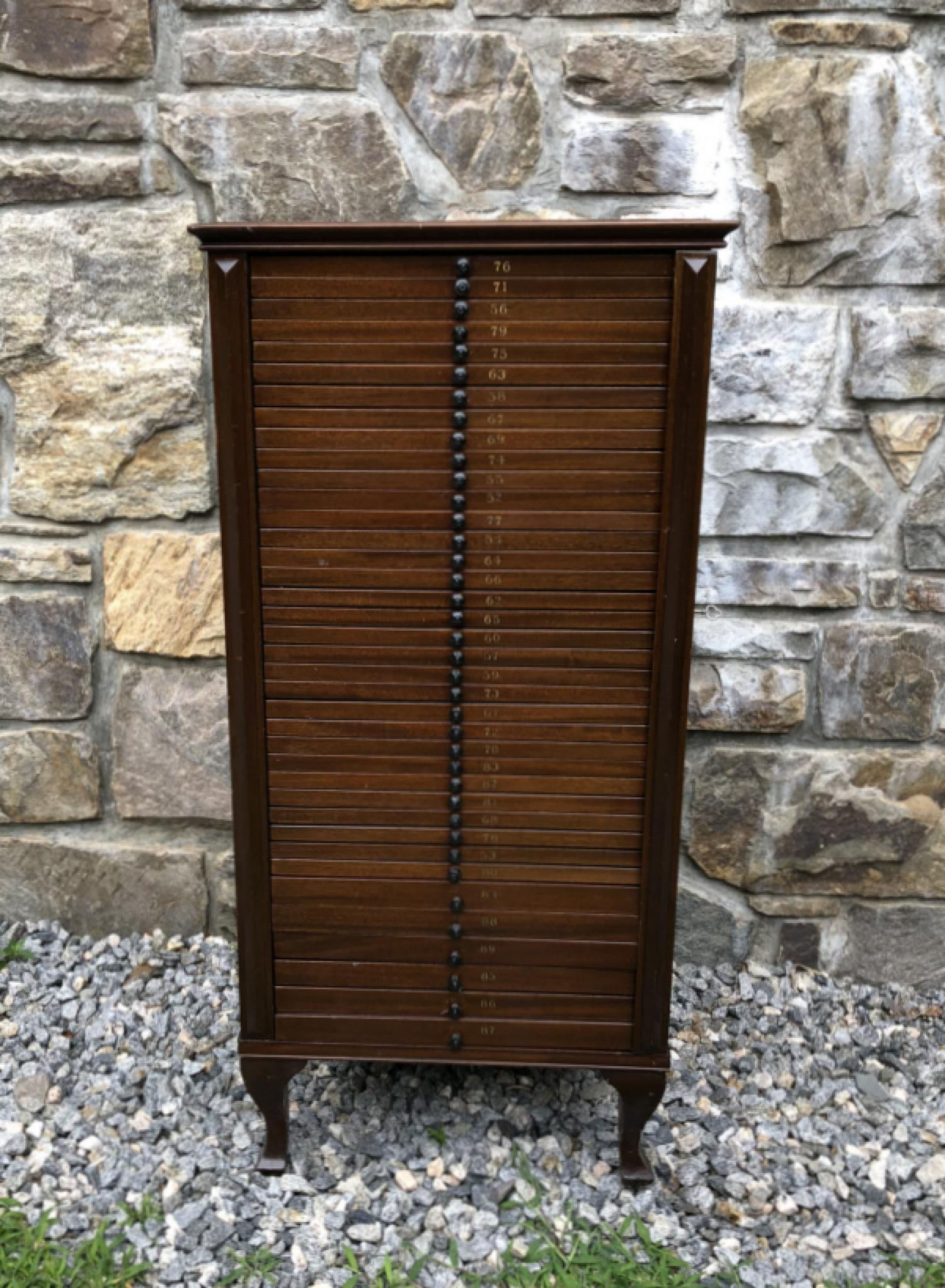 Vintage collectors cabinet with 38 drawers c1900