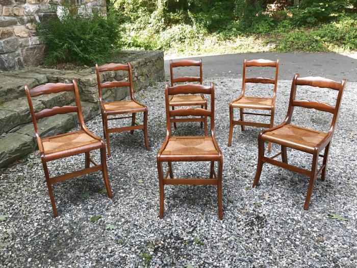 Six walnut chairs by Amana Colony Iowa