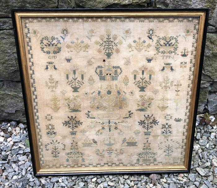 Early American sampler dated 1839