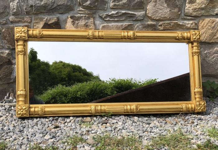 French Empire gold leaf mirror c1840