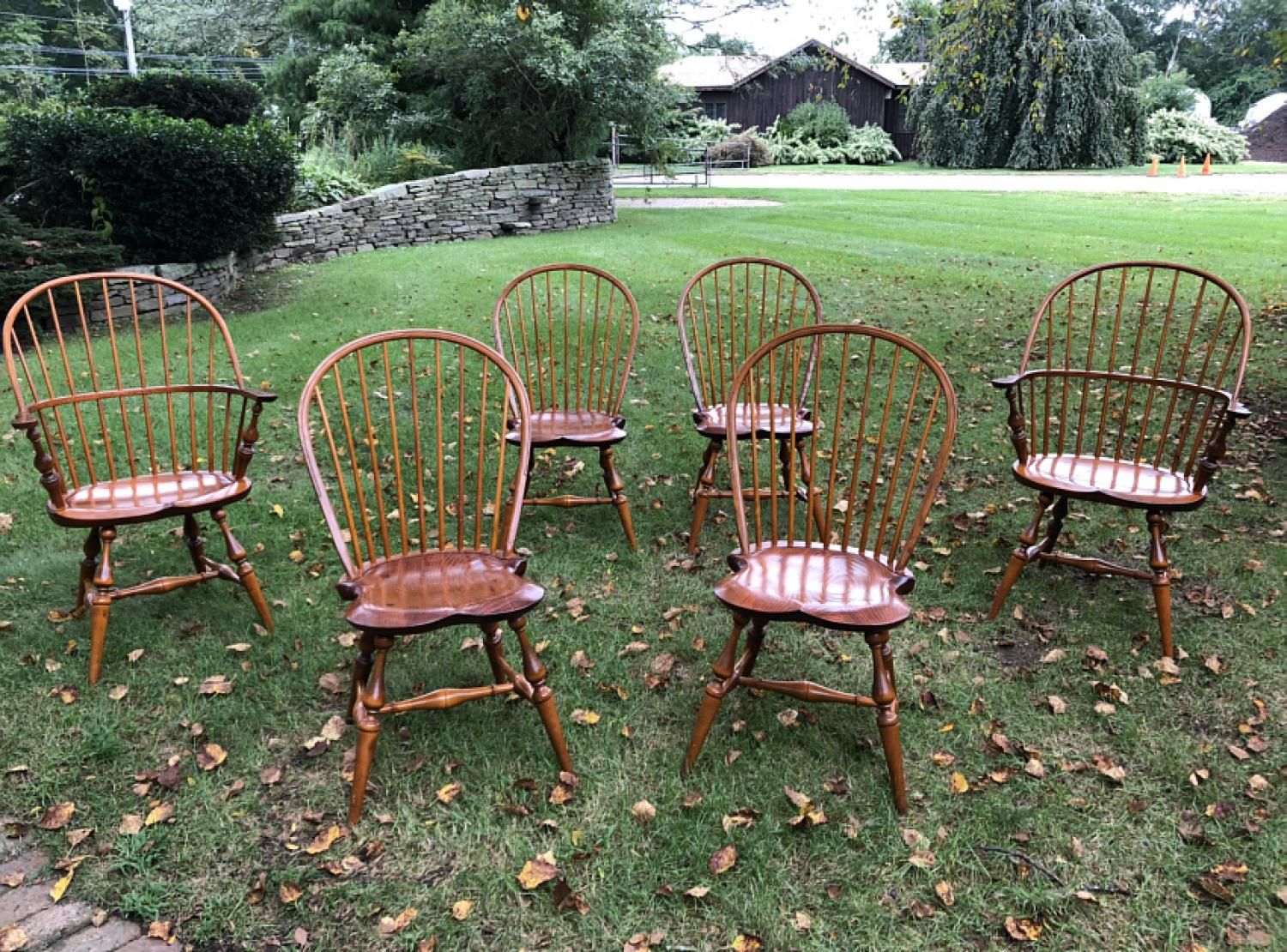 Set of Windsor dining chairs