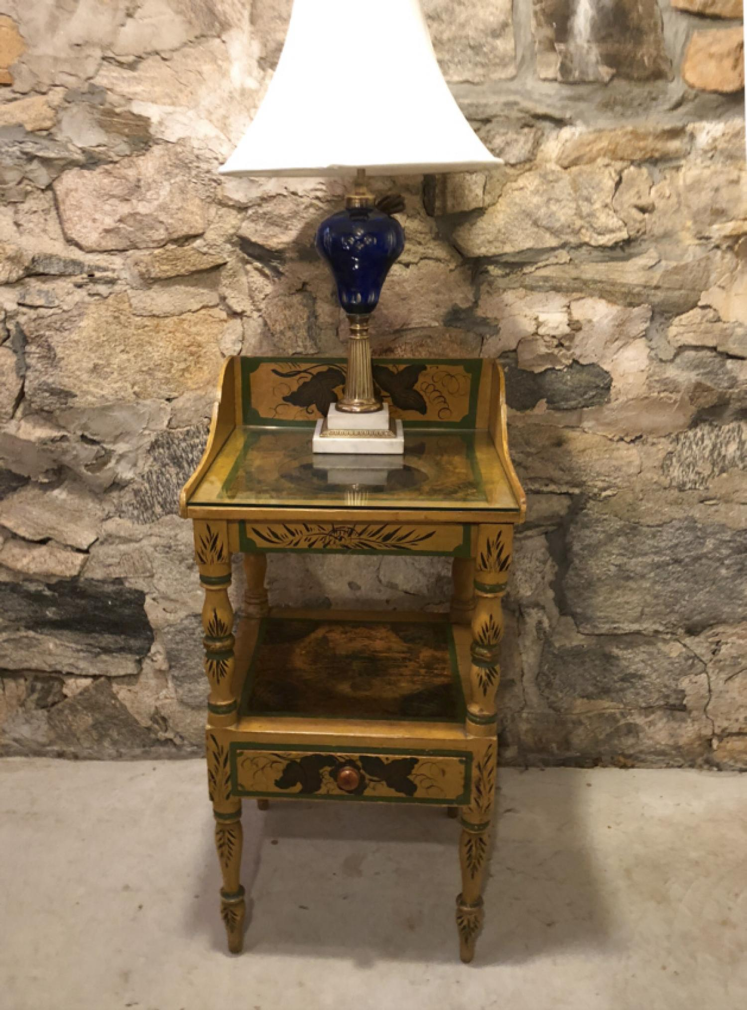 Early New England painted wash stand c1825
