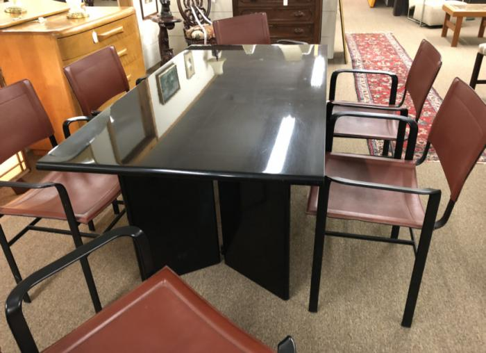 Mid Century Modern Cidue table and chairs Italy c1970