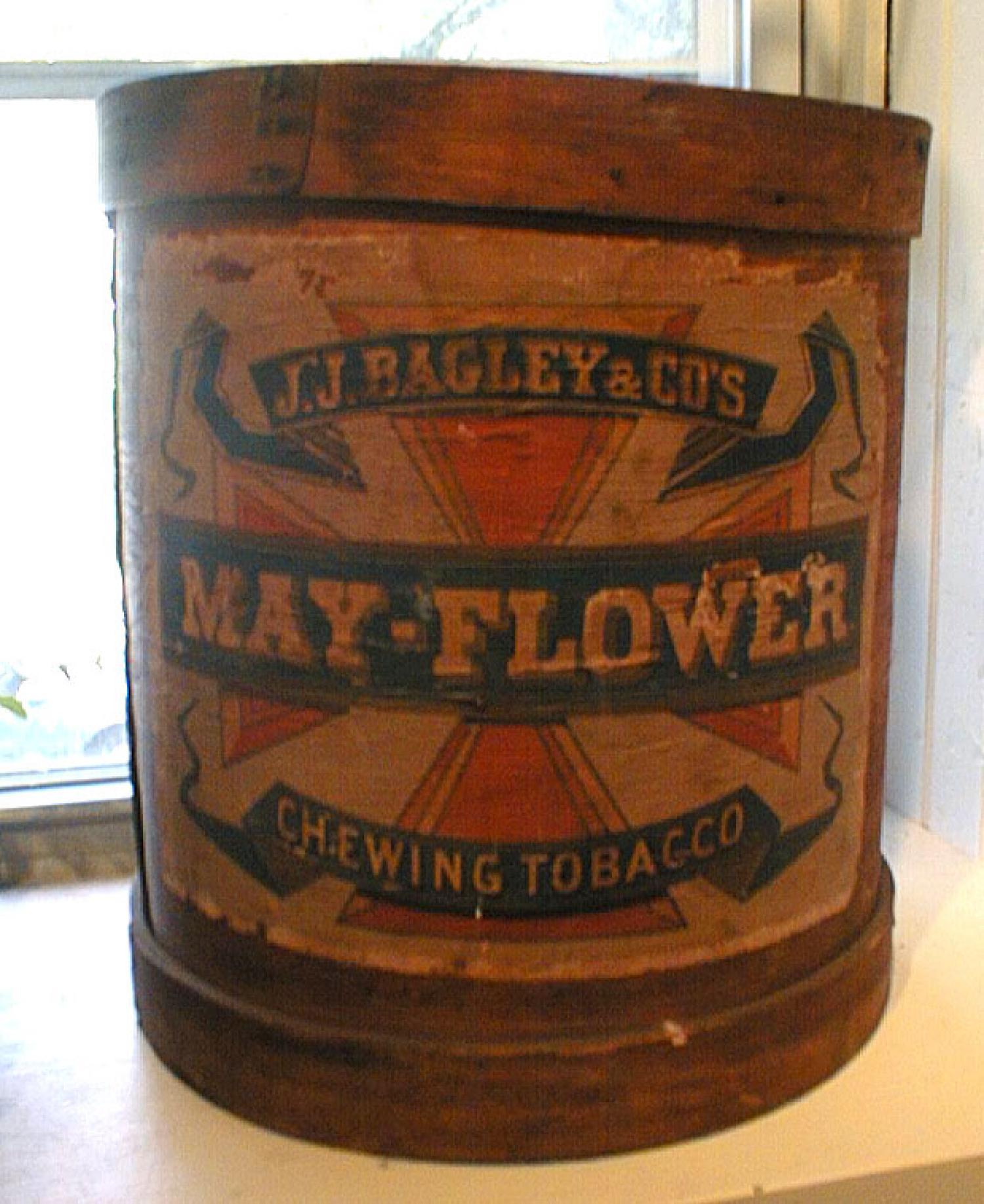 Antique Advertising Mayflower tobacco barrel