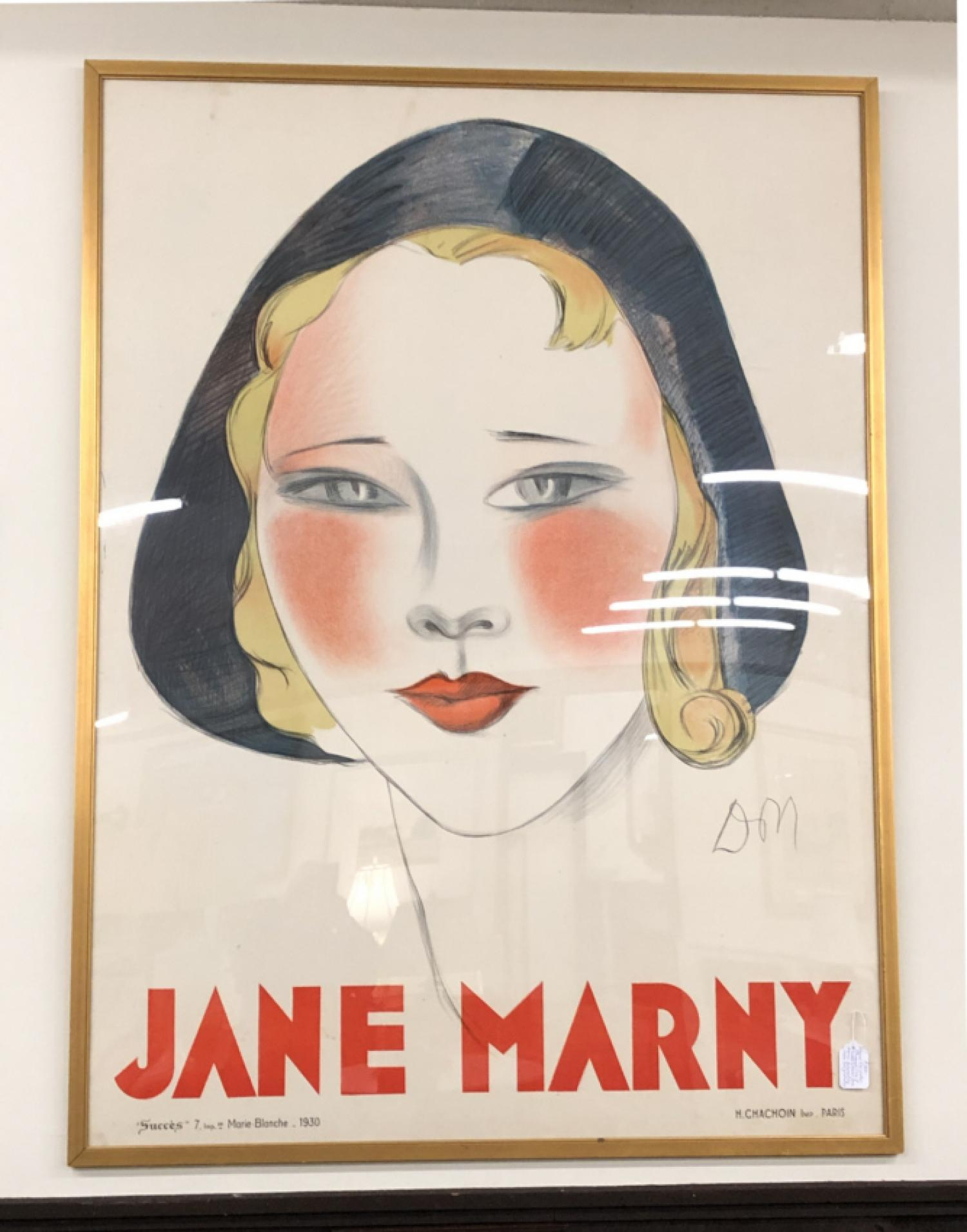 French film poster of Jane Marny circa 1930