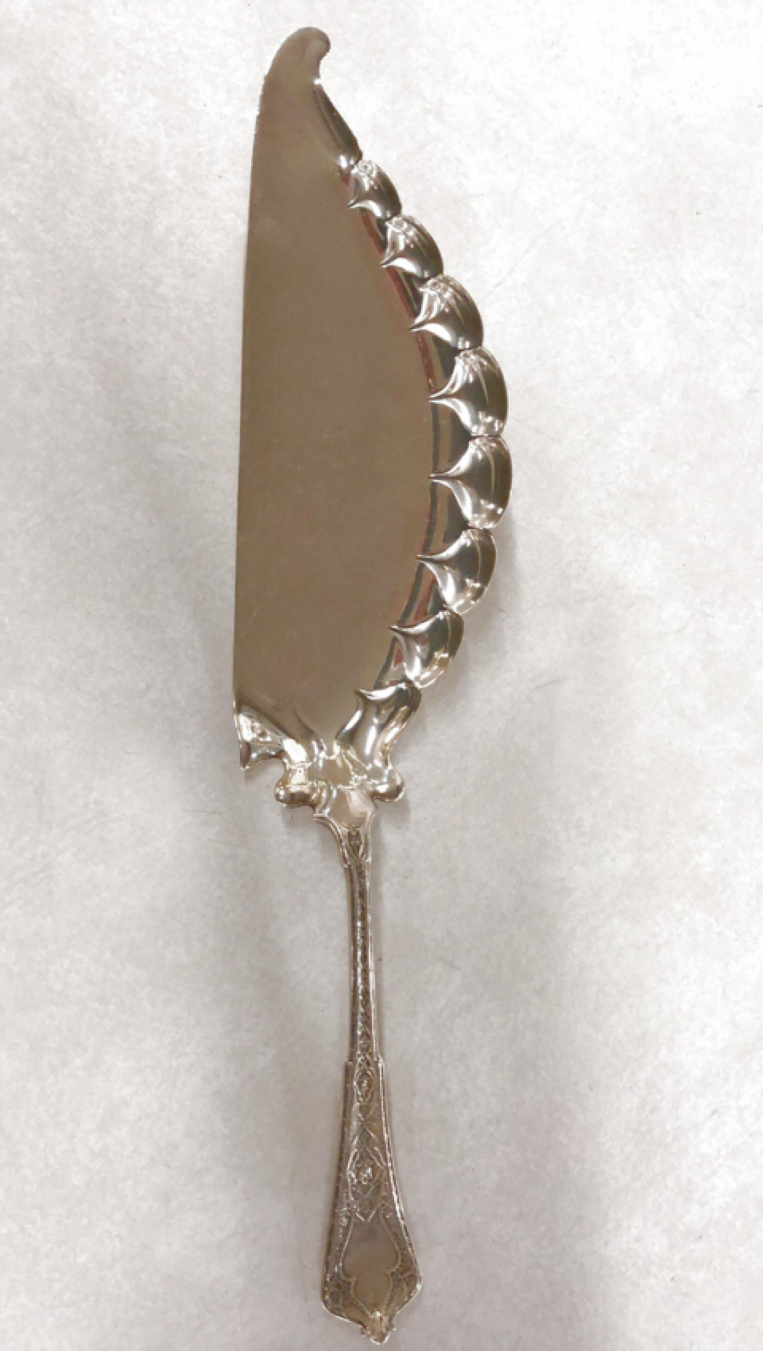 Antique Tiffany Co sterling silver fish server