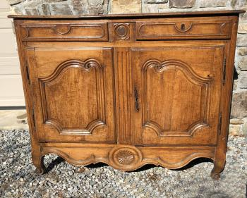 Image of French walnut sideboard c1790