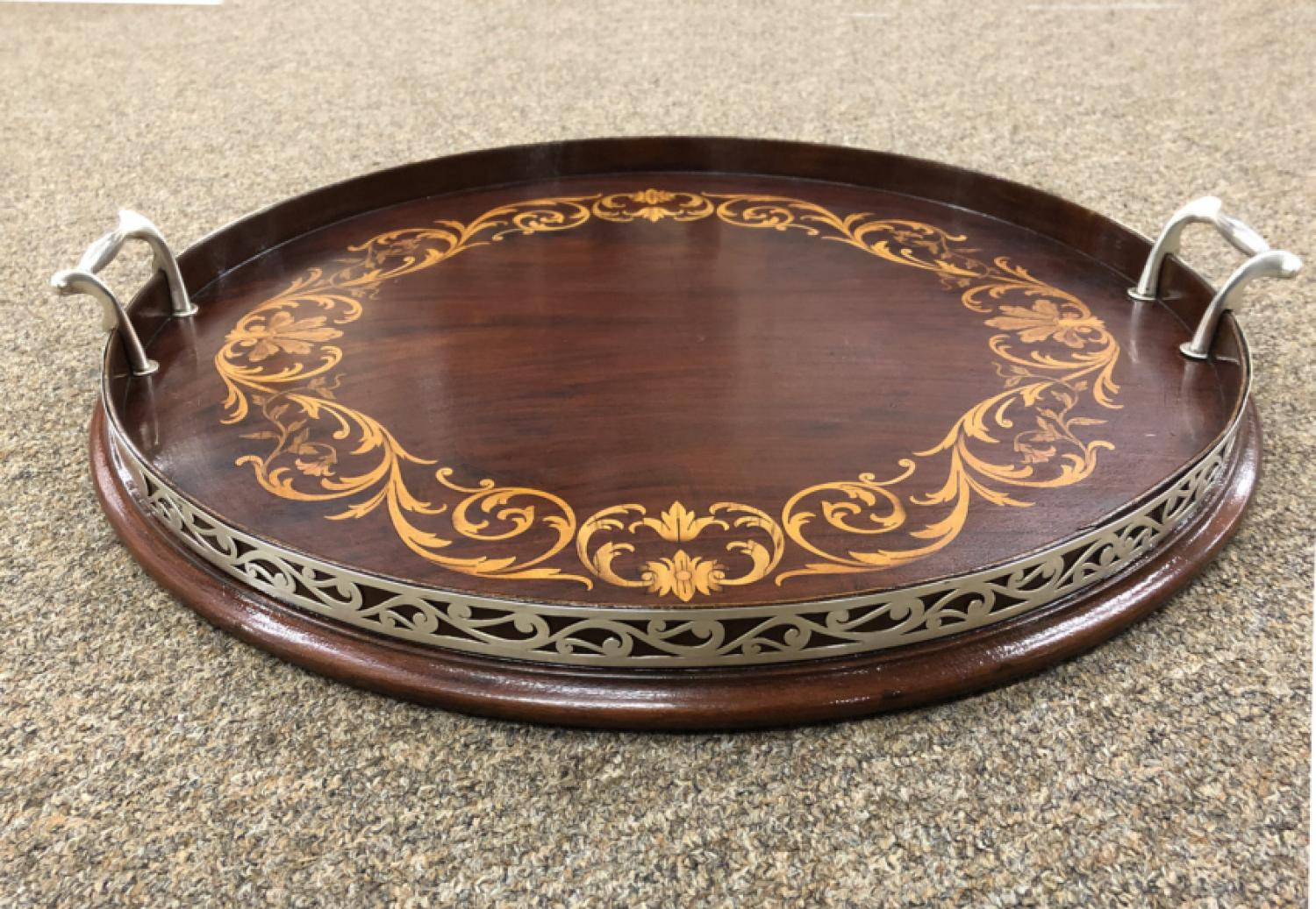 Black Starr and Frost sterling mahogany tray