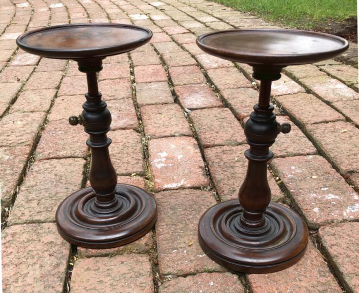 Pair of Victorian wig stands c1860
