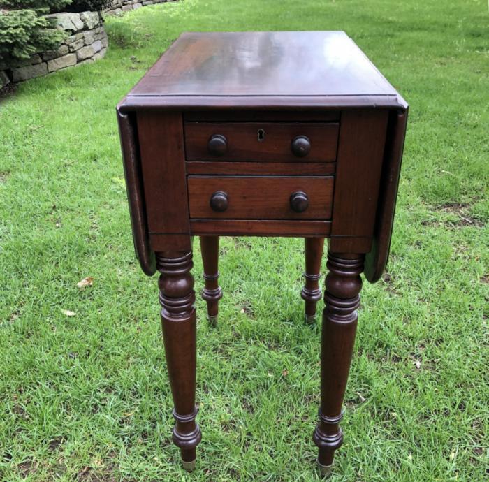 English mahogany bedside table c1830