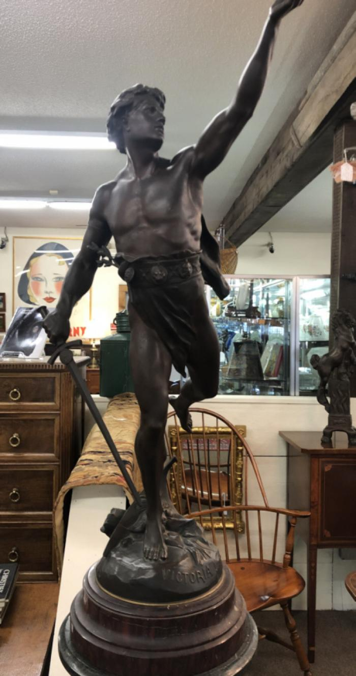 E  Picault bronze sculpture Victoria