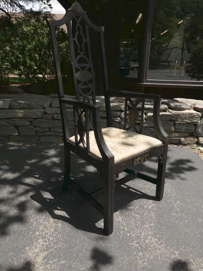 Japonaiserie hand made arm chair c1900