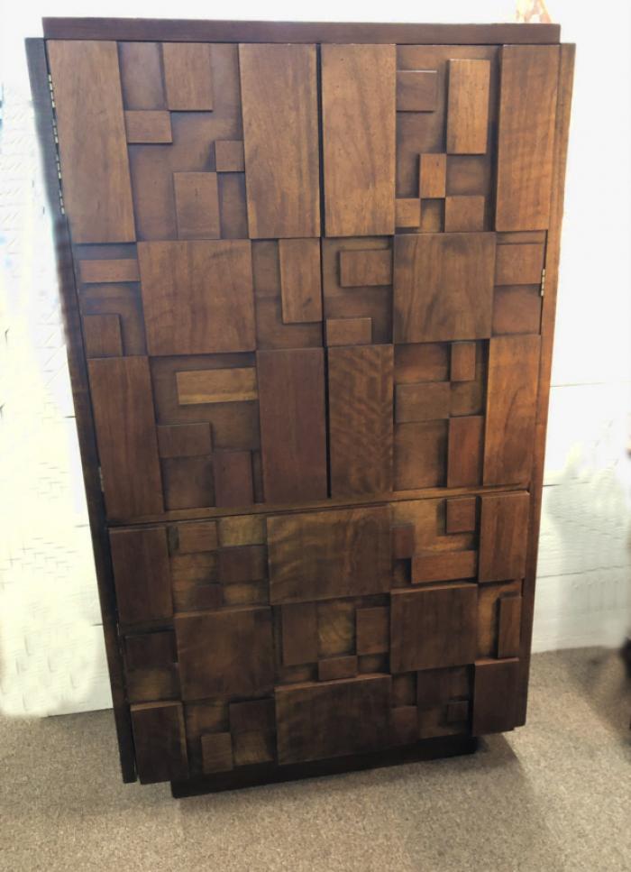 Lane Brutalist Mid Century Modern tall chest