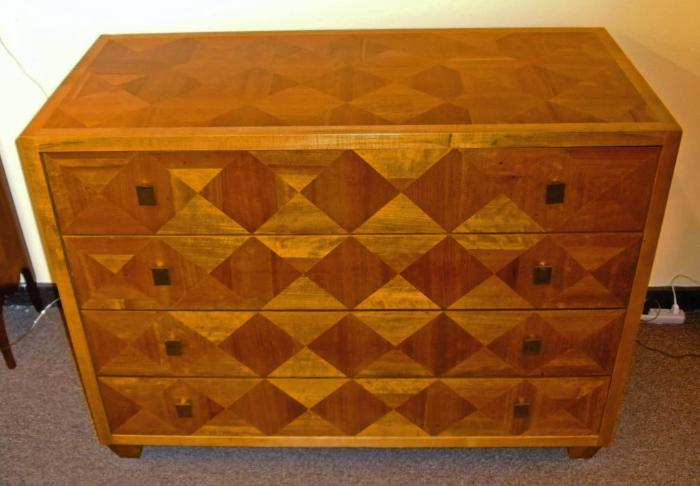Mid 20th Century Parquetry Chest of Drawers