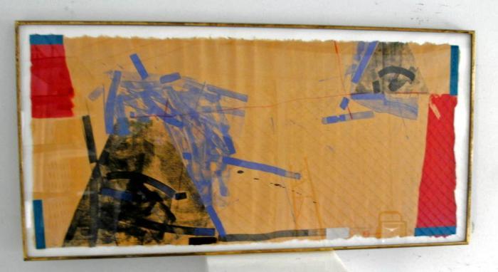 Steven Sorman collage gouache on paper