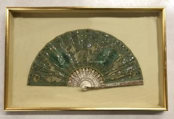Image of Bayard 19thc French embroidered fan