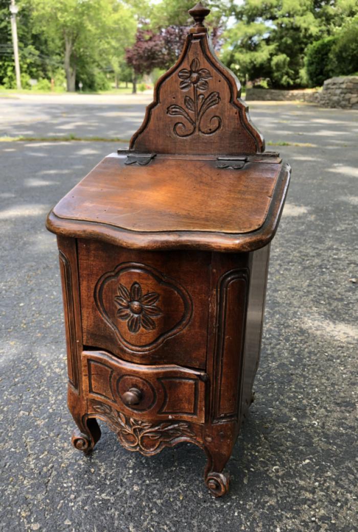 French provincial walnut salt box c1780