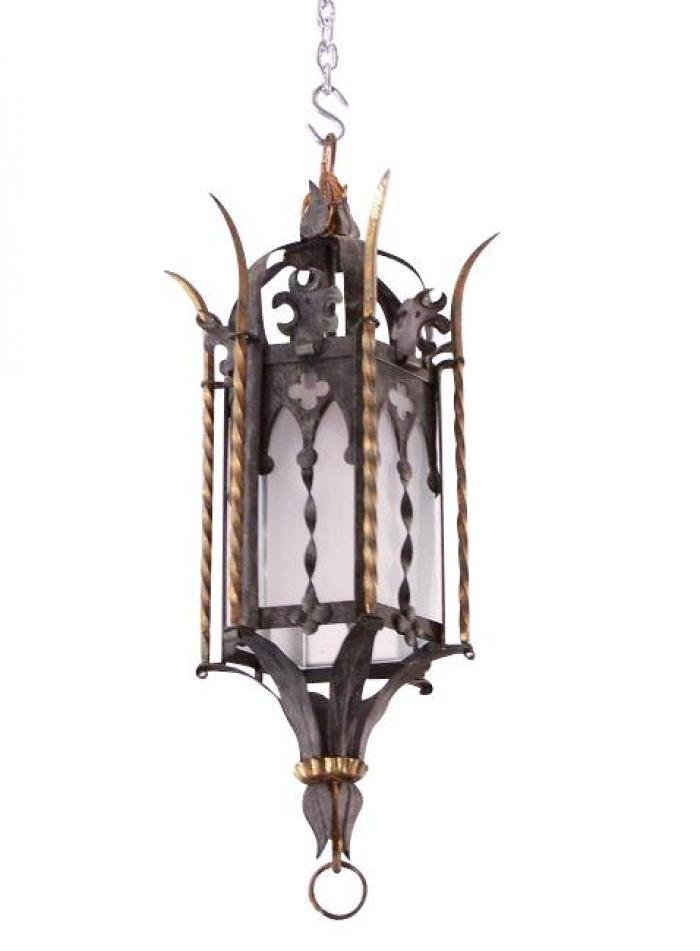 Gothic Revival Style Iron Lantern