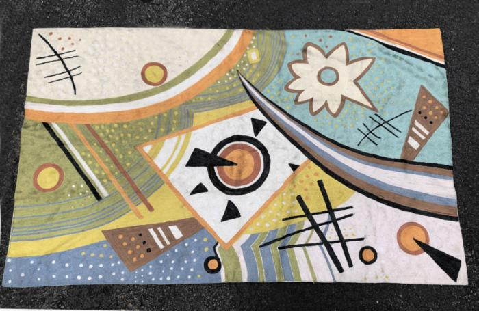 Mid Century Modern Tapestry After Kandinsky c1970