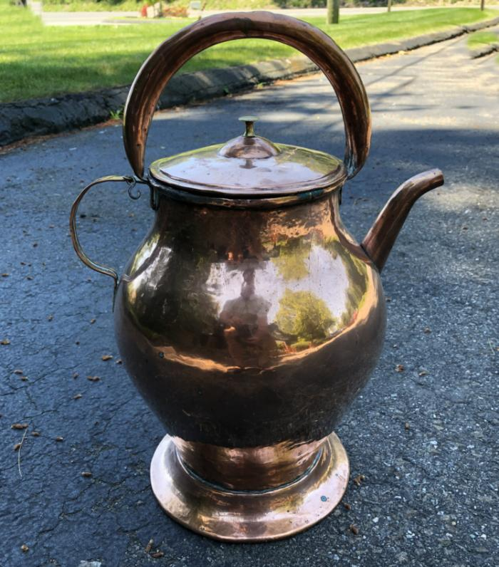 18thc French copper aiguiere water jug