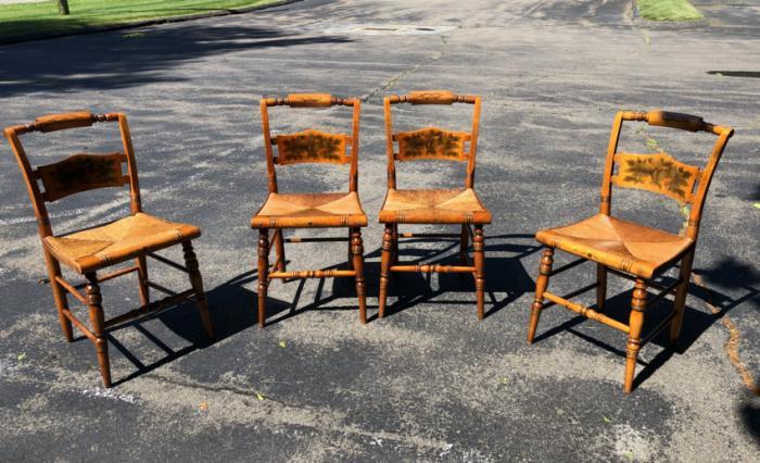 Vintage set of original Hitchcock chairs c1950