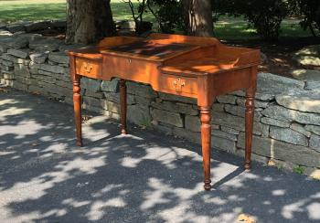 Image of American cherry paymasters desk c1830