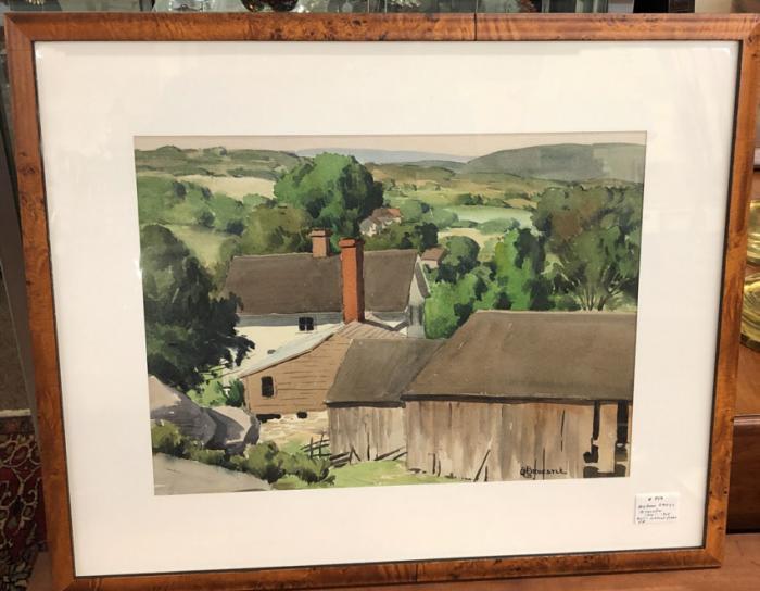 Bertram George Bruestle watercolor landscape of Lyme CT