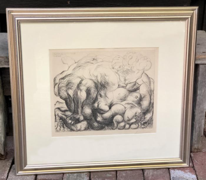 Signed Pablo Picasso lithograph Vollard Suite 1952