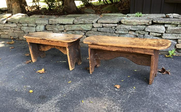 American primitive country pine benches