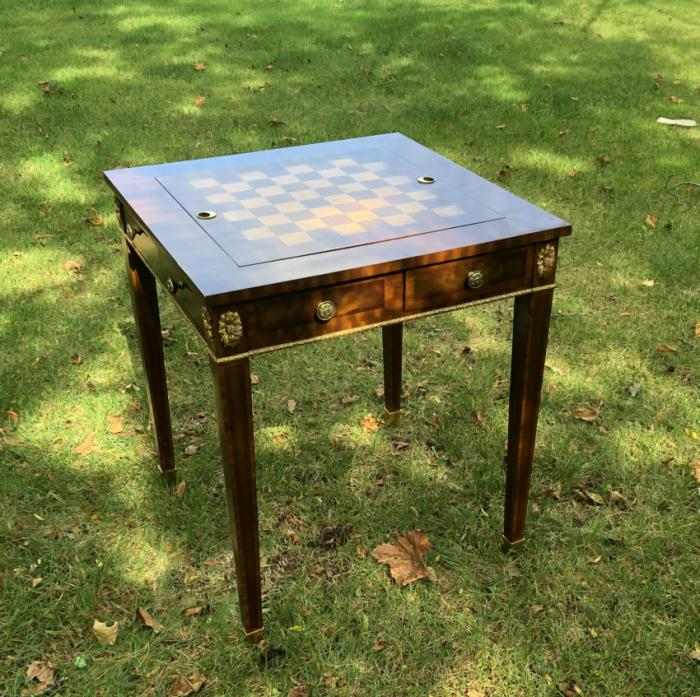Maitland Smith games table for chess and backgammon